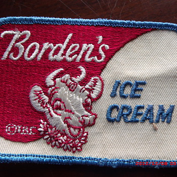 Borden's Dairy Ice Cream advertising or employee patch
