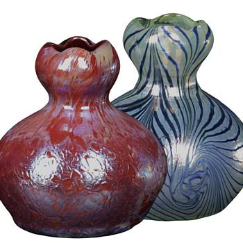 New Heckert decor of hot finished Art Nouveau glass - Art Glass