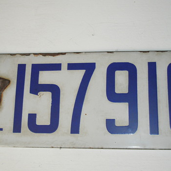 1919 The Last California Porcelain License Plate