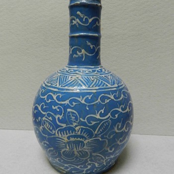 19th Century? Arabic? Middle Eastern? Pottery Vase - Anyone recognize the design? - Art Pottery