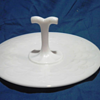 White Milk Glass GRAPE LEAVES Design Cupcake/Cookie Tray With Center Handle