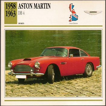 Vintage Car Card - Aston Martin DB 4 - Cards
