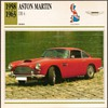 Vintage Car Card - Aston Martin DB 4