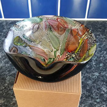Vintage Murano glass bowl or ashtray