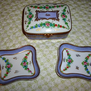This is a nice set I bought at an estate sale, But is it real Limoges? - China and Dinnerware