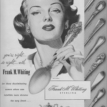 1950 Frank M. Whiting Sterling Advertisements - Advertising