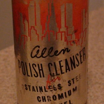 "Art Deco ""Allen Polish Cleanser"" Can"