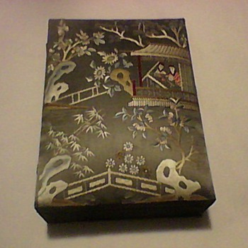 EMBROIDERED TOP CHINESE JEWELRY BOX - Asian