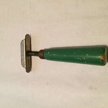 Green wooden handle tool - Tools and Hardware