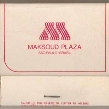 Maksoud Plaza Hotel (Brazil) - Matchbook - Tobacciana