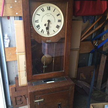Early 1900's time card clock