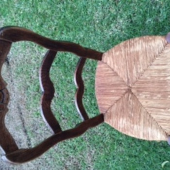 Antique Wood Chair With Cane Seat