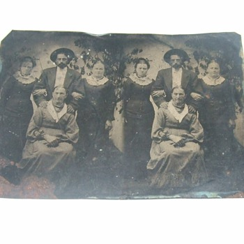 Uncut pair of tintype images - Photographs