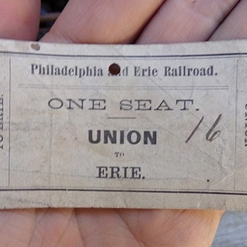 Civil War Train Ticket