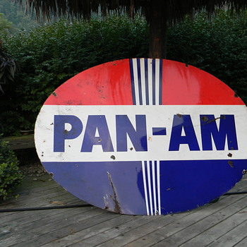 Pan Am vintage sign