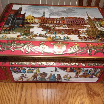 Vintage Otto Schmidt tin from Germany - Advertising