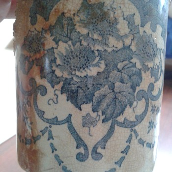 Blue transferware mug - China and Dinnerware