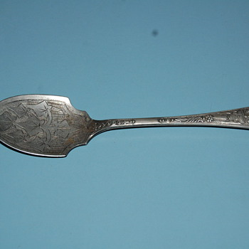 antique spoon found at a garage sale - Silver