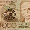 Brazil - (10,000) Cruzeiros Bank Note - (Overprint)
