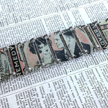 Upcycled Tin Jewelry - Advertising