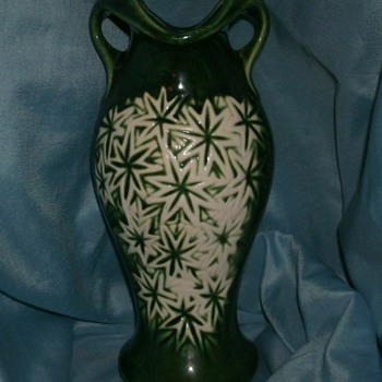 McCoy Starburst Line Vase - Art Pottery