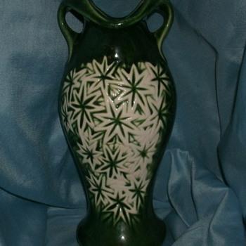 McCoy Starburst Line Vase - Art Pottery
