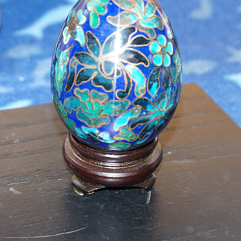 Cloisonne Egg - Asian