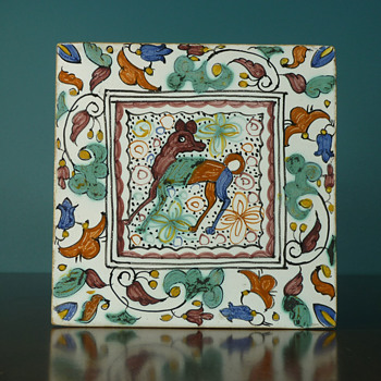 Handpainted Tile Chihuahua? - Art Pottery