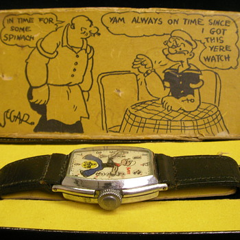 1935 Popeye Wristwatch Box - Wristwatches