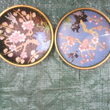 My cloisonne pin dishes