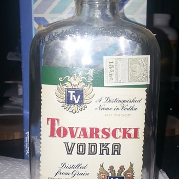 Tovarscki Vodka Liquor Bottle