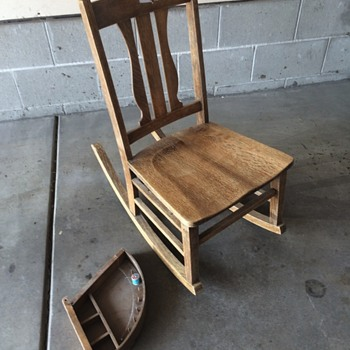 Rocking Chair with Sewing Drawer - Furniture