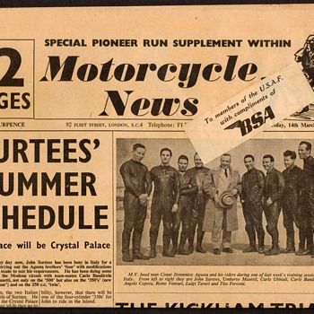 1956 - Motorcycle News - Periodical