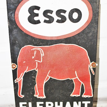 Early Esso Kerosene Sign From India. My Mom Brought it back for me