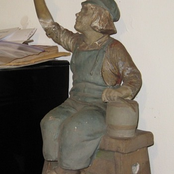 Dutch Boy Painter Window Advertising Statue Circa 1907 - Advertising