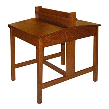 Circa 1910 Stickley Oak Partners Desk