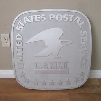 USPS Cast Aluminum Building Sign