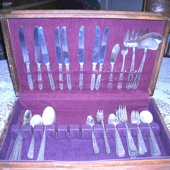 Vintage real silverware set.   Need help identifying - Sterling Silver