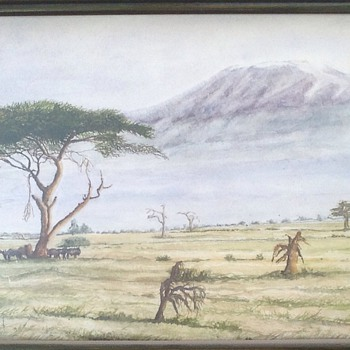 African watercolour paintings