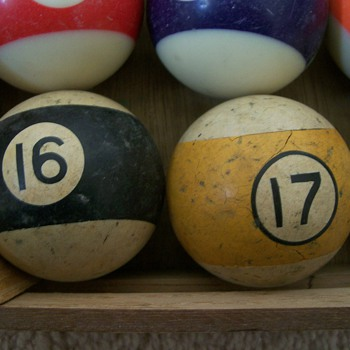 #16 and #17 Billiard Balls