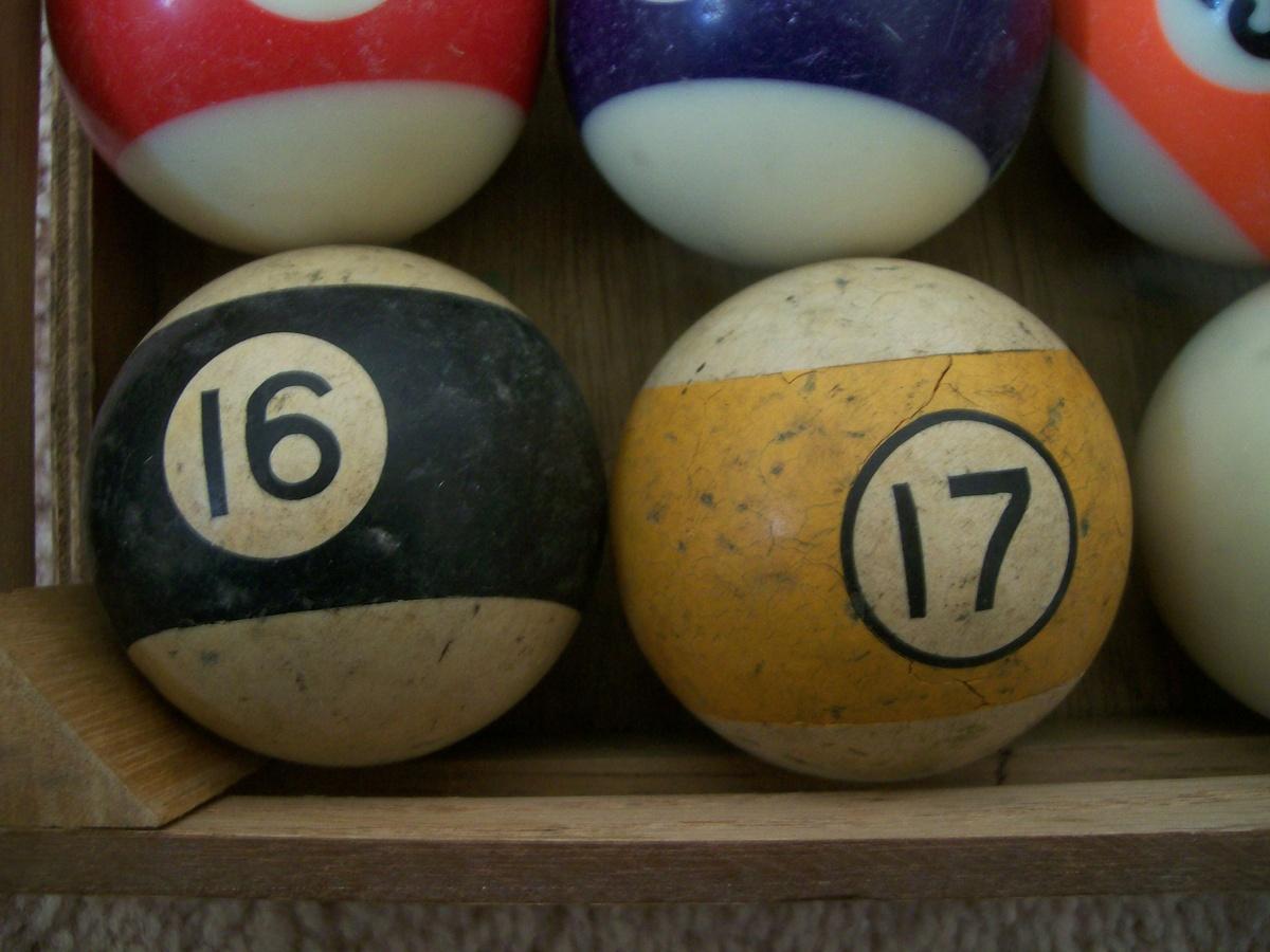 16 And 17 Billiard Balls Collectors Weekly