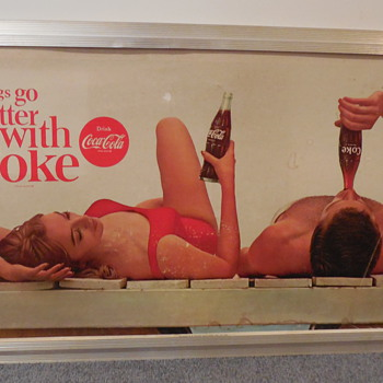 1964 Coca-Cola Cardboard Insert and Frame