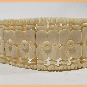 Unknown Bracelet -- Carved -- Number # 1 - Costume Jewelry
