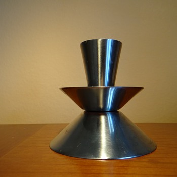 1960-1970&#039;S STAINLESS STEEL CANDLESTICK  - DENMARK