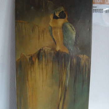 Oil on canvas signed Bluhm