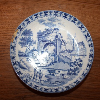Pearlware Blue Transferprint Dish