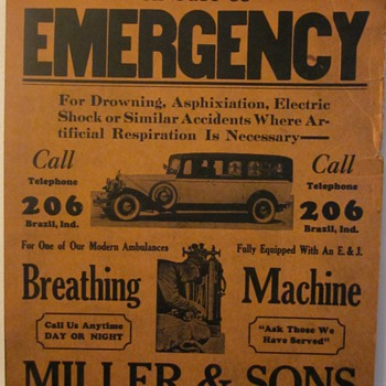 In Case of Emergency...1920&#039;s Advertisment - Advertising
