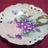 Rosenthal violets plate