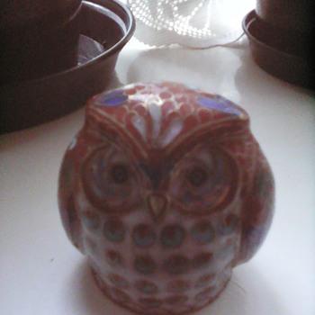 My cloisonne owl
