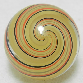 "Latticino Marble - 1-1/16"" Diameter - Art Glass"